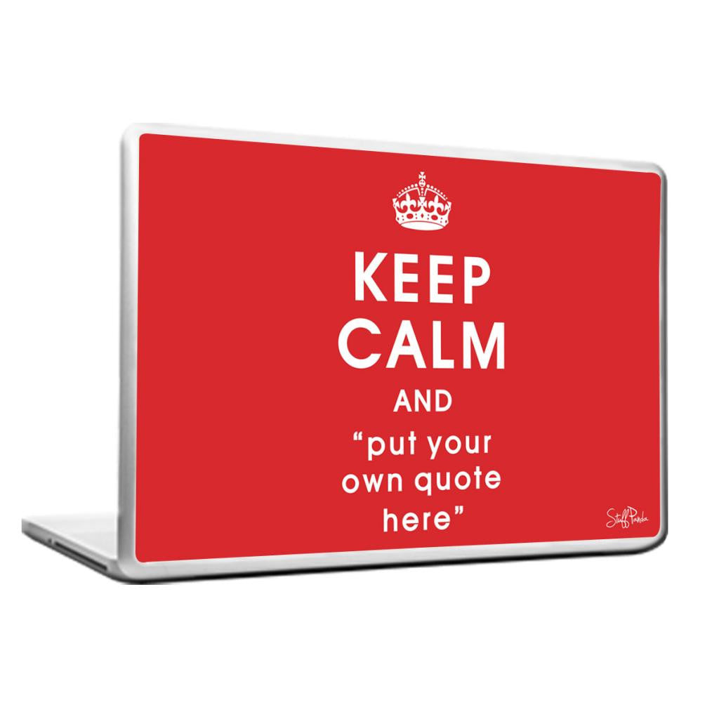 Cool Abstract Customised Keep Calm Laptop cover skin vinyl decals - stuffpanda - 1