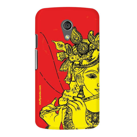 Designer Cool funky Krishna hard back cover / case for Moto G2