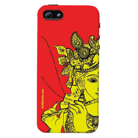 Designer Cool funky Krishna hard back cover / case for Iphone 5 / 5s