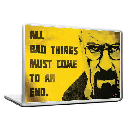 Cool Funky Breaking Bad Laptop skin vinyl decals yellow face