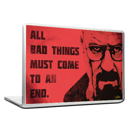 Cool Funky Breaking Bad Laptop skin vinyl decals Red face