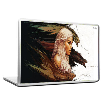 Cool Funky Game of Thrones Laptop skin vinyl decals lady horse