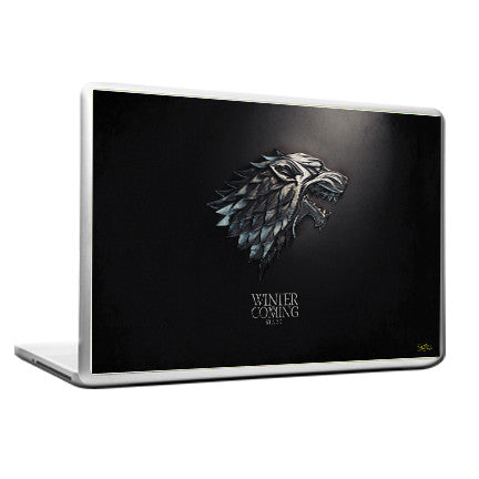 Cool Funky Game of Thrones Laptop skin vinyl decals horse silver