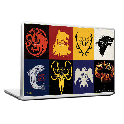 Cool Funky Game of Thrones Laptop skin vinyl decals Box flags