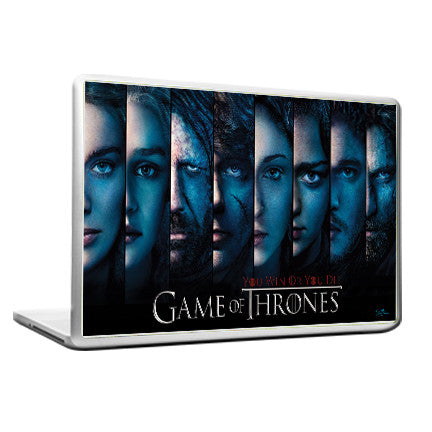 Cool Funky Game of Thrones Laptop skin vinyl decals All faces