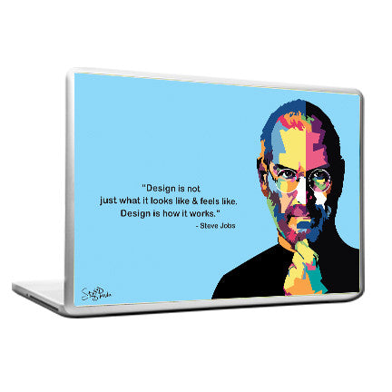 Cool Funky Apple Steve jobs Quote Pixels Laptop skin vinyl decals