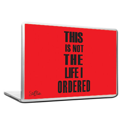 Cool Funky Funny This is NOT the Laptop skin vinyl decals