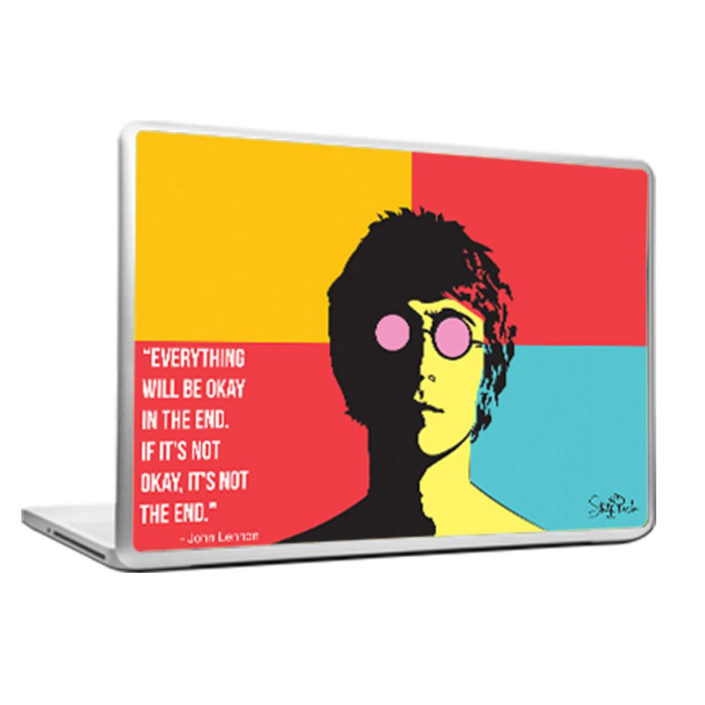 Cool Abstract Music Beatles John lennon quote Laptop cover skin vinyl decals - stuffpanda - 1