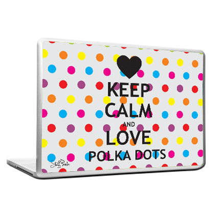Cool Abstract Quirky Keep Calm Polka Dots Laptop cover skin vinyl decals