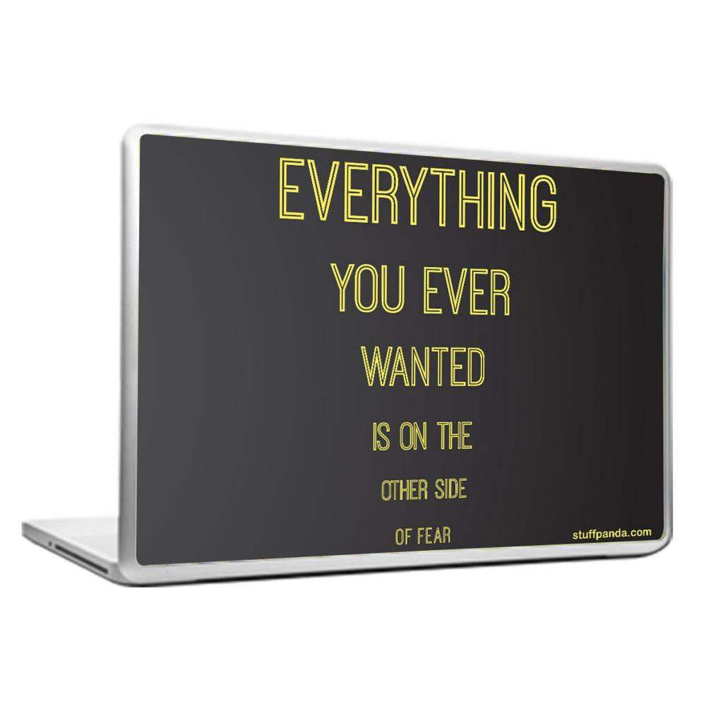 Cool Abstract Motivation Everything you wanted Laptop cover skin vinyl decals - stuffpanda - 1