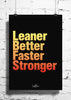 Cool Abstract Motivation Leaner Faster wall posters, art prints, stickers decals - stuffpanda - 1