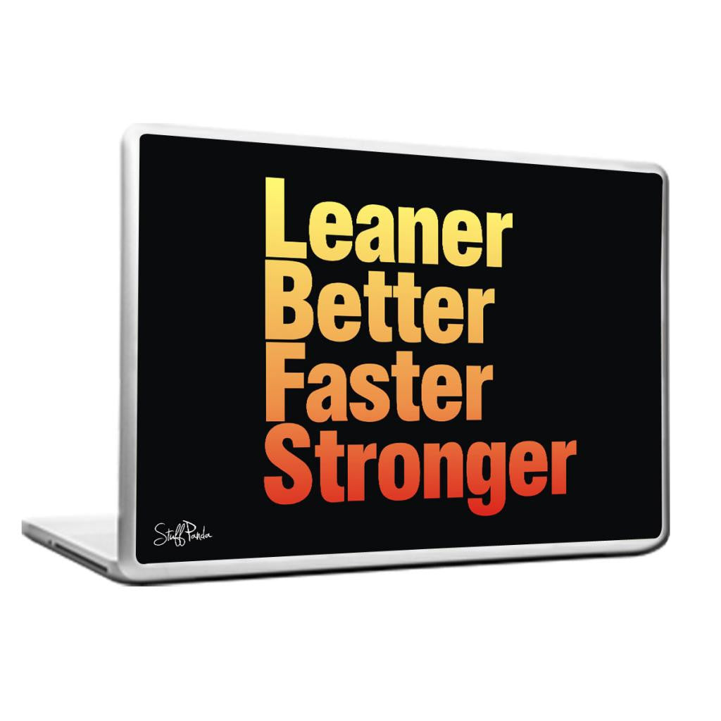 Cool Abstract Motivation Leaner Faster Laptop cover skin vinyl decals - stuffpanda - 1