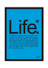 Cool Funky Funny Life Wall Glass Frame posters, Wall art Blue - stuffpanda - 1