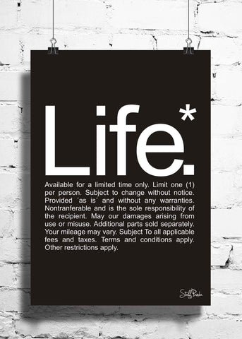 Cool Funky funny Life fine prints wall posters, art prints, stickers decals B n W