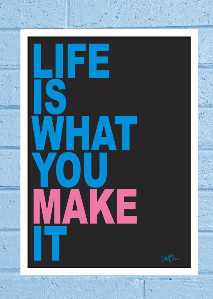 Cool Abstract Motivation Life is what you Glass frame posters Wall art - stuffpanda - 1
