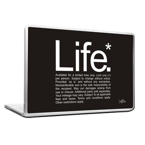 Cool Funky Funny Humour Life Laptop skin vinyl decals B n W