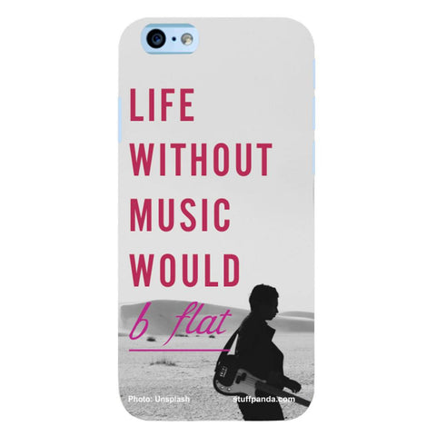 Designer Cool funky Life Without Music hard back cover / case for Iphone 6