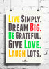 Cool Abstract Motivation Live Simply wall posters, art prints, stickers decals - stuffpanda - 1