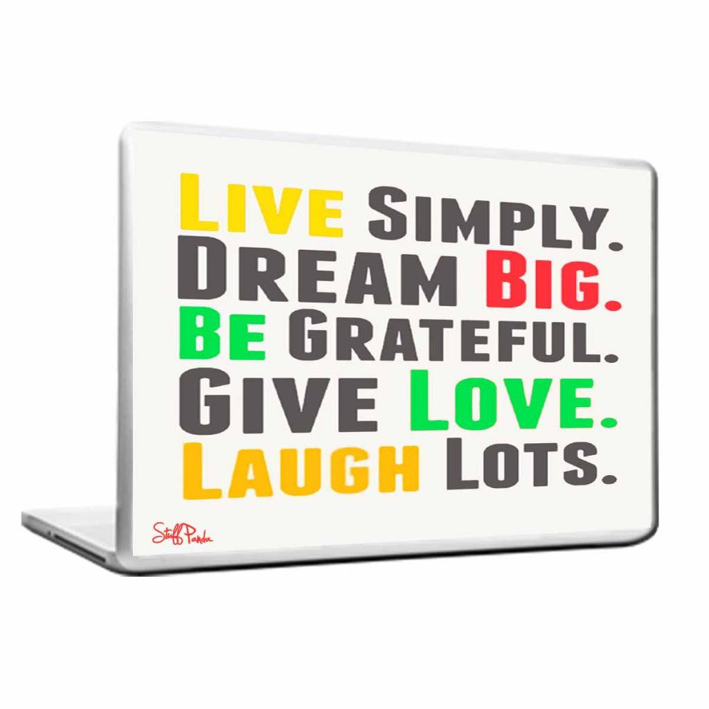 Cool Abstract Motivation Live Simply Laptop cover skin vinyl decals - stuffpanda - 1