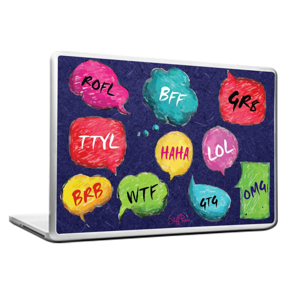 Cool Abstract Funny LOL ROFL HAHA Laptop cover skin vinyl decals - stuffpanda - 1