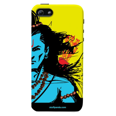 Designer Cool Ethnic Lord Rama hard back cover / case for Iphone 5 / 5s Yellow