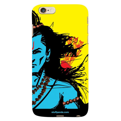 Designer Cool Ethnic Lord Rama hard back cover / case for Iphone 6 plus Yellow