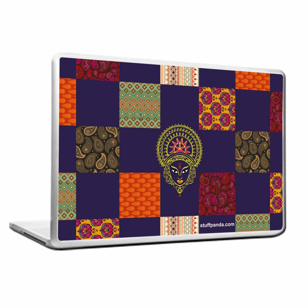 Cool Abstract Ethnic Maa durga Laptop cover skin vinyl decals - stuffpanda - 1