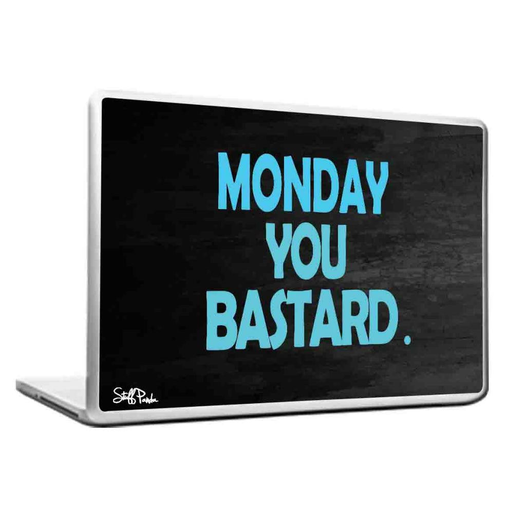 Cool Abstract Funny Humour Monday you Laptop cover skin vinyl decals - stuffpanda - 1