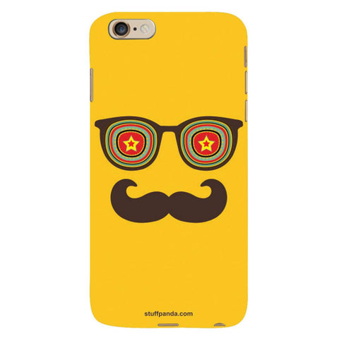 Designer Cool funky Moustache Face hard back cover / case for Iphone 6 plus