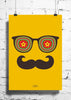 Cool Funky Abstract Moustache Star wall posters, art prints, stickers decals - stuffpanda - 1