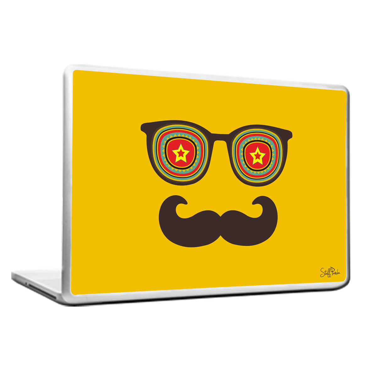 Cool Abstract Moustache star Laptop cover skin vinyl decals - stuffpanda - 1