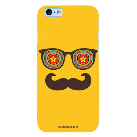 Designer Cool funky Moustache Face hard back cover / case for Iphone 6