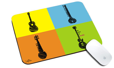 Cool design Music instruments boxes natural rubber mouse pad - stuffpanda