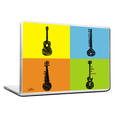 Cool Funky Music instruments boxes laptop skin vinyl decals