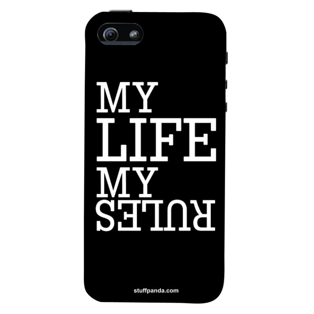 more photos 8fe7e 33114 Designer Motivational My Life My Rules hard back cover / case for Iphone 5  / 5s