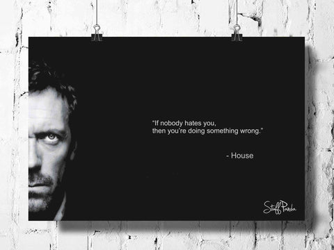 Cool Abstract House MD If nobody hates wall posters, art prints, stickers decals