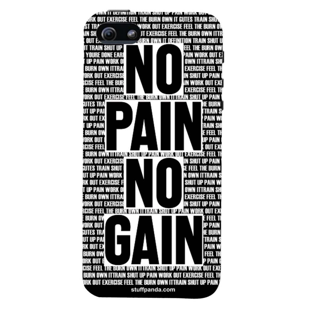 the best attitude 402af d0b00 Designer Motivational No Pain No Gain hard back cover / case for Iphone 5 /  5s