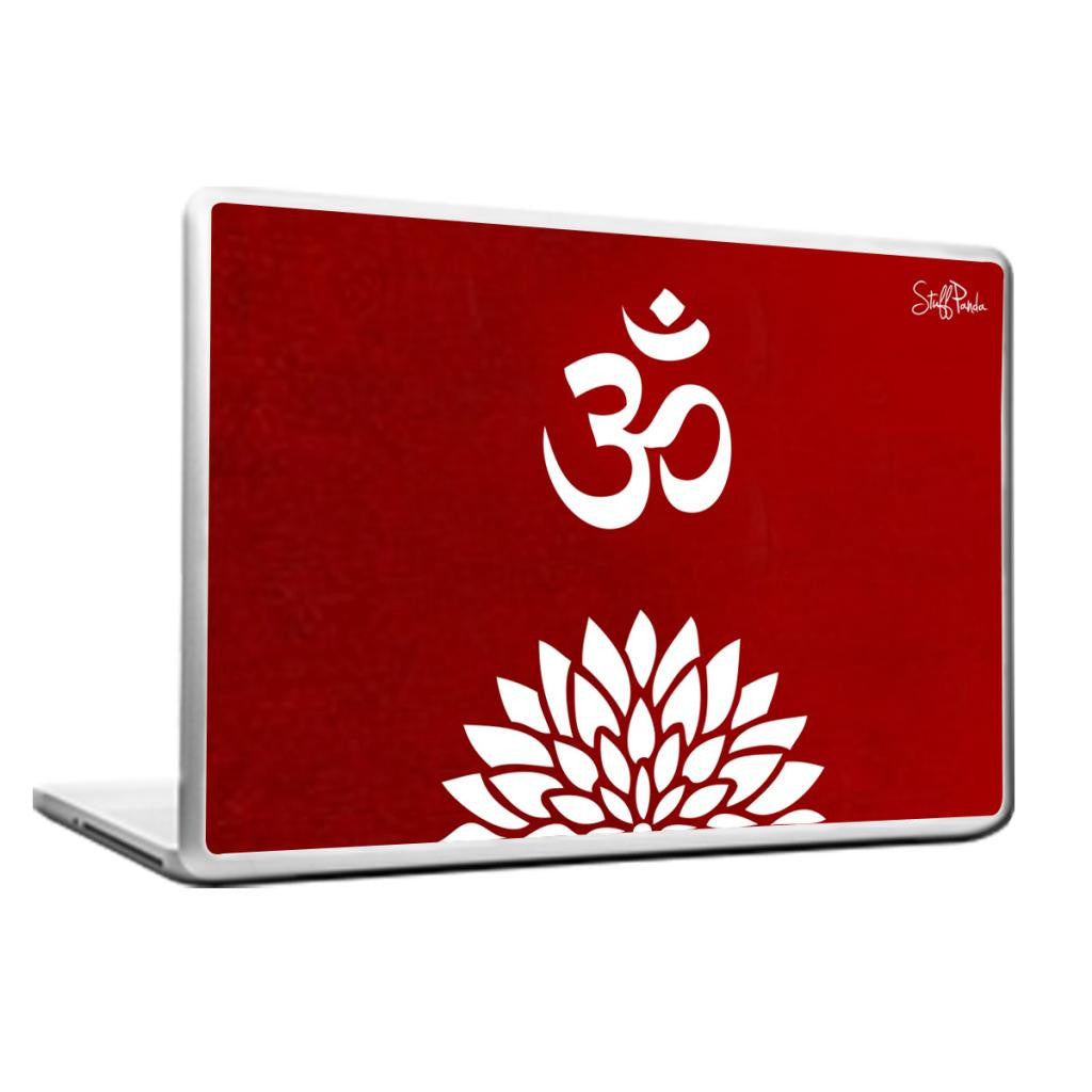 Cool Abstract Ethnic Om with Flower Laptop cover skin vinyl decals - stuffpanda - 1