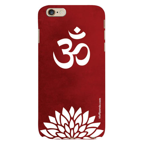 Designer Cool funky Om With Flower hard back cover / case for Iphone 6 plus