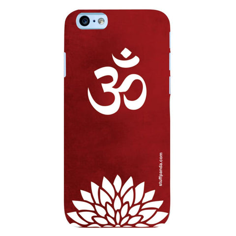 Designer Cool funky Om With Flower hard back cover / case for Iphone 6
