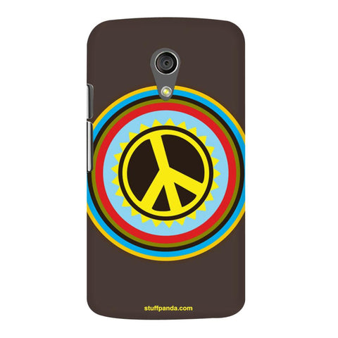 Designer Cool funky Pease Sign hard back cover / case for moto G2