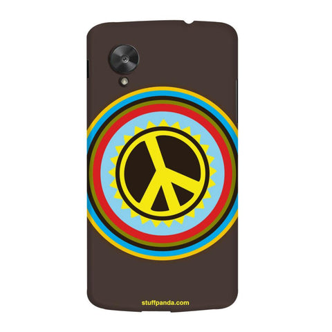 Designer Cool funky Pease Sign hard back cover / case for Nexus 5