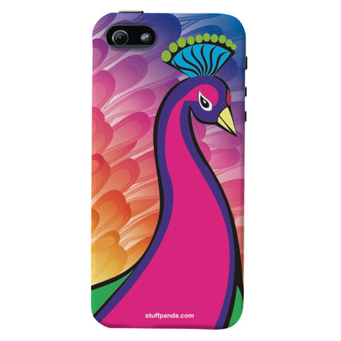 Designer Cool funky Peacock hard back cover / case for Iphone 5 / 5s