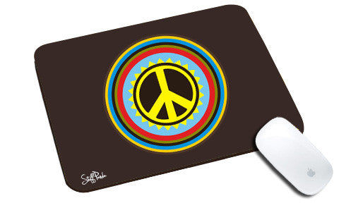 Cool design Abstract Peace Circle natural rubber mouse pad - stuffpanda