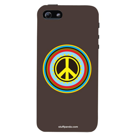 Designer Cool funky Pease Sign hard back cover / case for Iphone 5 / 5s