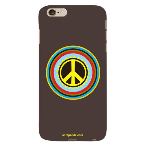 Designer Cool funky Pease Sign hard back cover / case for Iphone 6 plus
