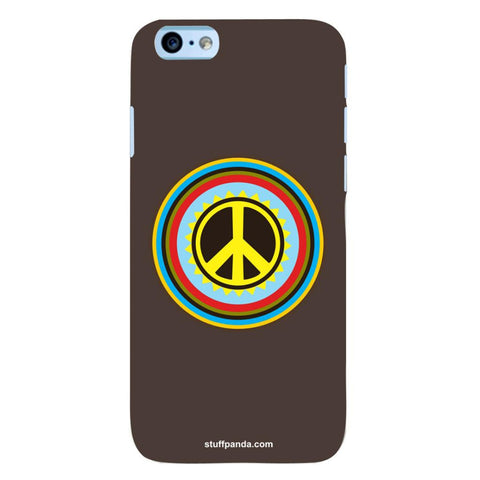 Designer Cool funky Pease Sign hard back cover / case for Iphone 6