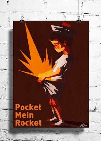Cool Funky Funny Pocket mein wall posters, art prints, stickers decals