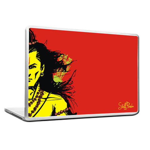 Cool Funky Lord Rama Laptop skin vinyl decals Red