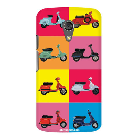 Designer Cool funky Ethnic Scooter hard back cover / case for Moto G2